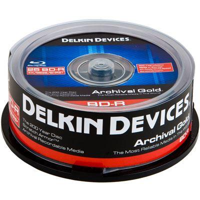 Image of Delkin BD-R Archival Gold Scratch Armor - 25 Discs