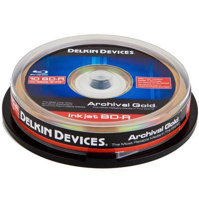 Image of Delkin BD-R Inkjet Archival Gold - 25 Discs