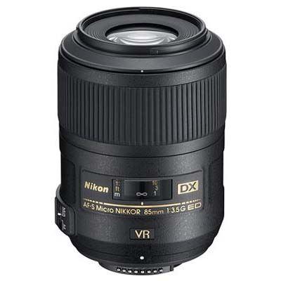 Nikon 85mm f3.5 G ED AF-S VR DX Micro Nikkor Lens
