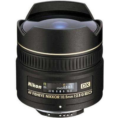 Image of Nikon 10.5mm f2.8 G IF-ED AF DX Fisheye Lens