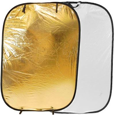Image of Lastolite Collapsible Panelite Reflector 1.2 x 1.8m - Gold / White