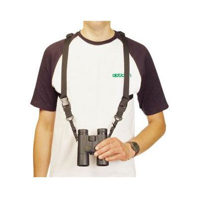 Image of Opticron Harness - Leather and Nylon 25mm Black with Quick Release