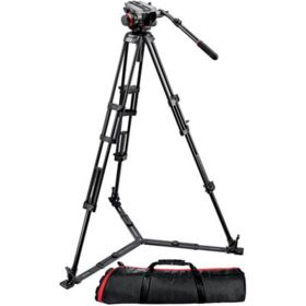 Used Manfrotto 546GBK Video Tripod with 504HD Head