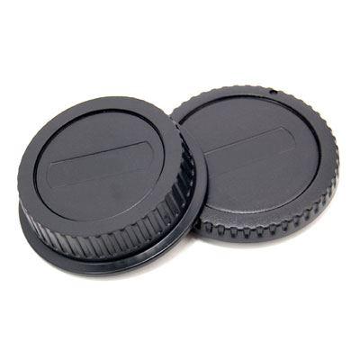 JJC Rear Lens Cap / Body Cap Combo - Canon Fit