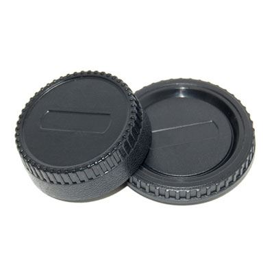 JJC Rear Lens Cap / Body Cap Combo - Nikon Fit