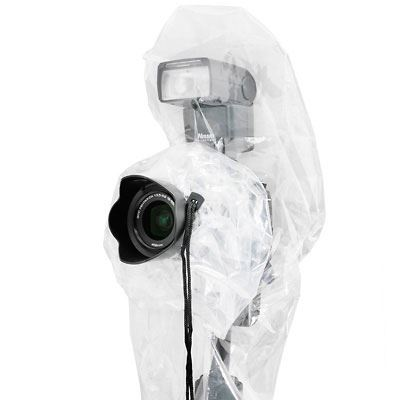 JJC Disposable Raincover for DSLR with Flash Pocket (Pack of 2)