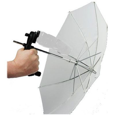 Image of Lastolite Brolly Grip Kit with Handle and 50cm Translucent Umbrella