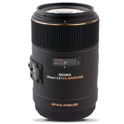 Image of Sigma 105mm f2.8 Macro EX DG OS HSM - Canon Fit