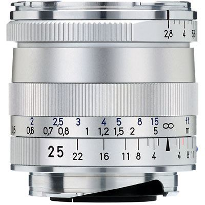 Zeiss 25mm f2.8 T* Biogon ZM Silver Lens – Leica Fit