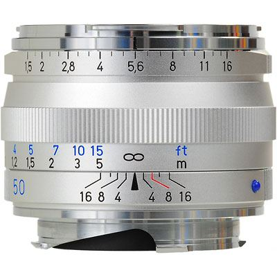 Image of Zeiss 50mm f1.5 T* C Sonnar ZM Silver Lens - Leica Fit