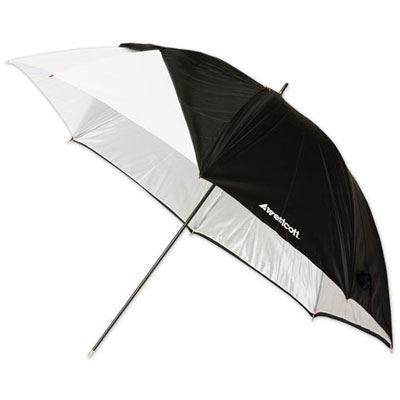 Westcott 60inch Optical White Satin Umbrella with Removable Black Cover