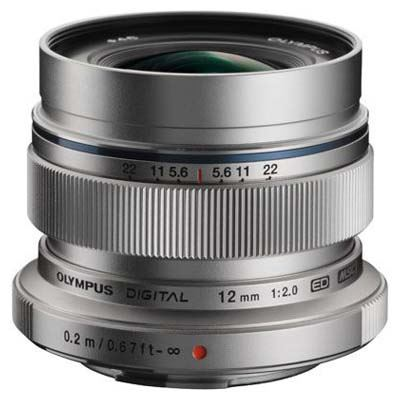 Olympus 12mm f2.0 ZUIKO Digital ED Micro Four Thirds lens - Silver