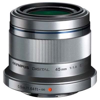 Olympus M.Zuiko Digital 45mm f1.8 Digital Lens - Silver