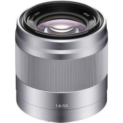 Sony E 50mm F1.8 OSS Lens Silver