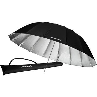 Westcott 220cm (7ft) Parabolic Umbrella - Silver/Black