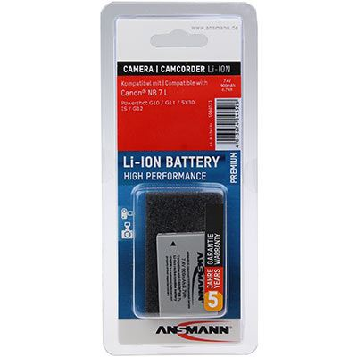 Image of Ansmann A-Can NB 7 L Battery (Canon NB-7L)