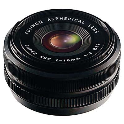 Fujifilm 18mm f2 R Fujinon Black Lens