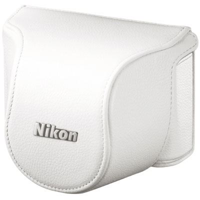 Nikon Body Case Set CB-N2000SG White for Nikon 1 J1 with 10mm lens
