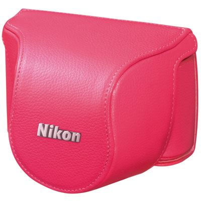 Nikon Body Case Set CB-N2000SK Pink for Nikon 1 J1 with 10mm lens