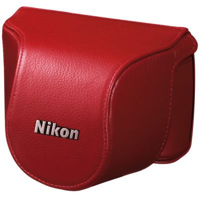 Nikon Body Case Set CB-N2000SL Red for Nikon 1 J1 with 10mm lens