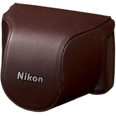 Nikon Body Case Set CB-N2000SC Brown for Nikon 1 J1 with 10-30mm lens