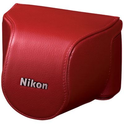 Nikon Body Case Set CB-N2000SE Red for Nikon 1 J1 with 10-30mm lens