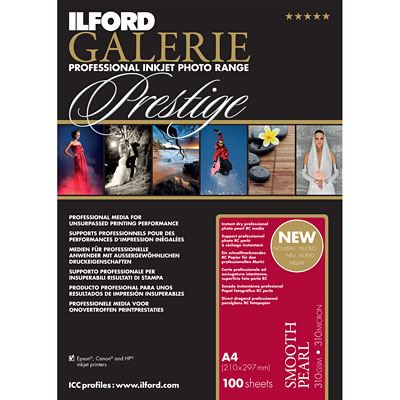 Ilford Galerie Prestige Smooth Pearl A4 100 Sheets 310gsm