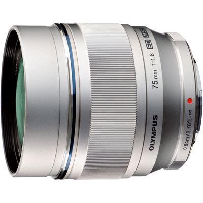 Olympus 75mm f1.8 M.ZUIKO Digital ED Lens - Silver