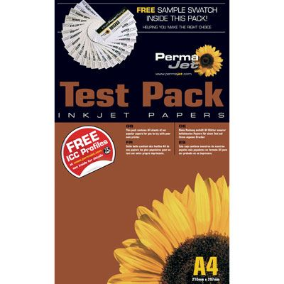 Permajet Digital Photo Test Pack Printing Paper A4 - 25 Sheets - Test Pack 1