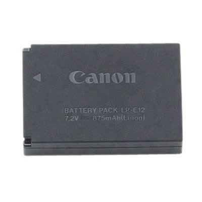 Image of Camera battery Canon replaces original battery LP-E12 7.2 V 875
