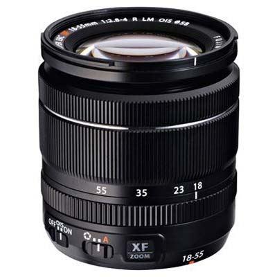 Fujifilm 18-55mm f2.8-4 R LM OIS XF Fujinon Black Lens