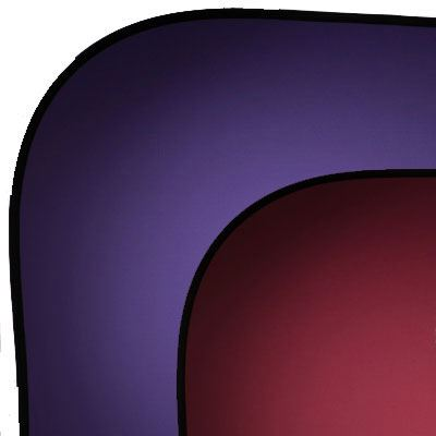 Image of Lastolite 1.8mx2.15m Collapsible Reversible Background - Red/Purple
