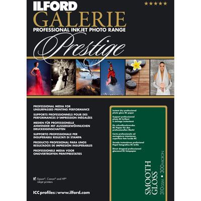 Ilford Galerie Prestige Smooth Gloss A2 25 Sheets 310gsm