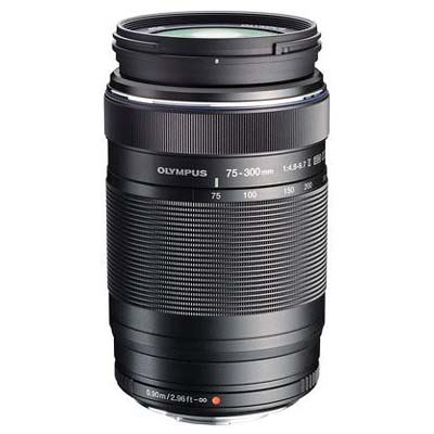 Olympus 75-300mm f4.8-6.7 II M.ZUIKO ED Micro Four Thirds Lens - Black