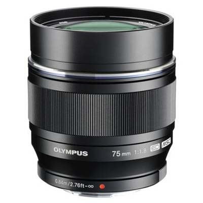 Olympus 75mm f1.8 M.ZUIKO Digital ED Lens - Black