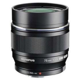 Olympus M.Zuiko Digital ED 75mm f1.8 Lens - Black