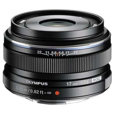 Olympus 17mm f1.8 M.ZUIKO Digital Lens - Black