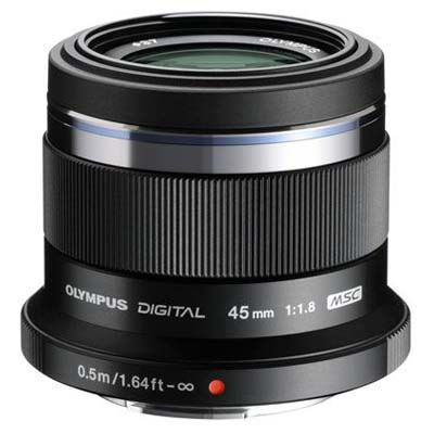 Olympus 45mm f1.8 M.ZUIKO Digital Micro Four Thirds Lens - Black