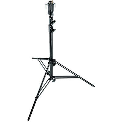 Image of Manfrotto 007BSU Black Chrome Plated 3-Section Steel Lighting Stand