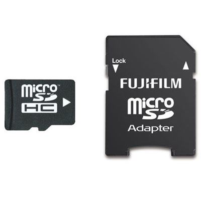 Image of Fujifilm 16GB Micro SDHC Card Class 10 with SD Adaptor