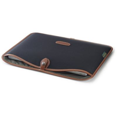 Billingham 13 inch Laptop Slip - Black/Tan