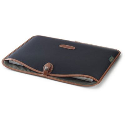 Billingham 15 inch Laptop Slip - Black/Tan