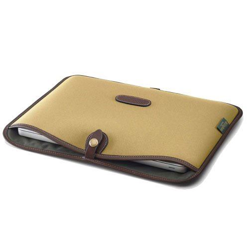 Billingham 15 inch Laptop Slip - Khaki FibreNyte/Chocolate