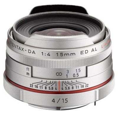 Image of Pentax 15mm f4 DA ED AL Limited Lens - Silver