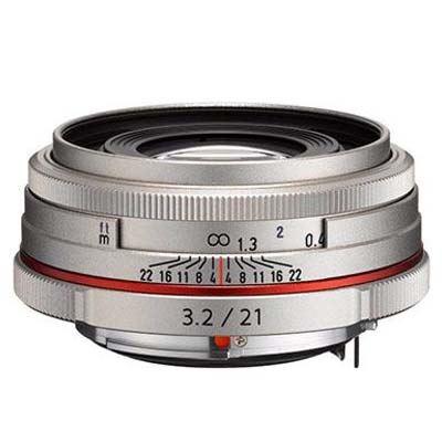 Image of Pentax 21mm f3.2 DA AL Limited Lens - Silver