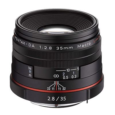 Pentax 35mm f2.8 Macro DA Limited Lens - Black