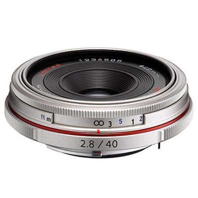 Image of Pentax-DA HD 40mm f2.8 Limited Lens - Silver
