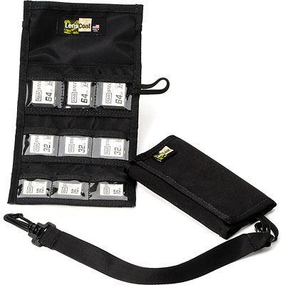 LensCoat SD9 Memory Card Wallet - Black