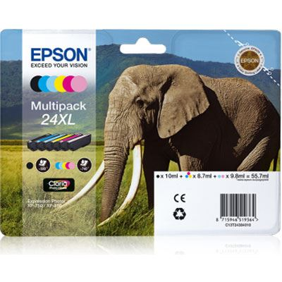 Epson 24XL Multipack 6Colours Claria Photo HD Ink Cartridge
