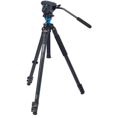 Used Benro A2573F Video Tripod Kit with S4 Head